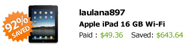 QuiBids iPad