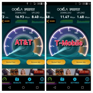 AT&T vs T-Mobile Speed Test at Home